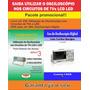 Livro E Dvd Aula Sobre Utilização Do Osciloscópio Em Tvs Lcd