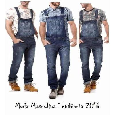 Jardineira macac o jeans masculino frete gratis 12x s for Jardineira masculina c a