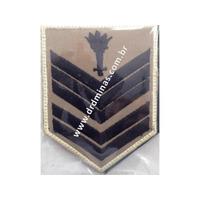 Divisa Braço 1º Sargento Bombeiro (caqui) - Par