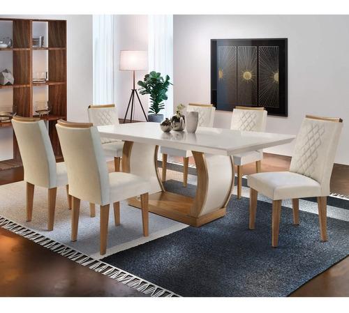 Conjunto Mesa De Jantar 6 Cadeiras Kate Espresso If Original