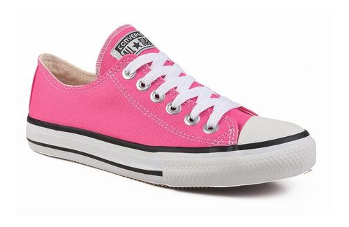 Tênis All Star Converse Cano Baixo Ct Adulto Ox Rosa Pink Original