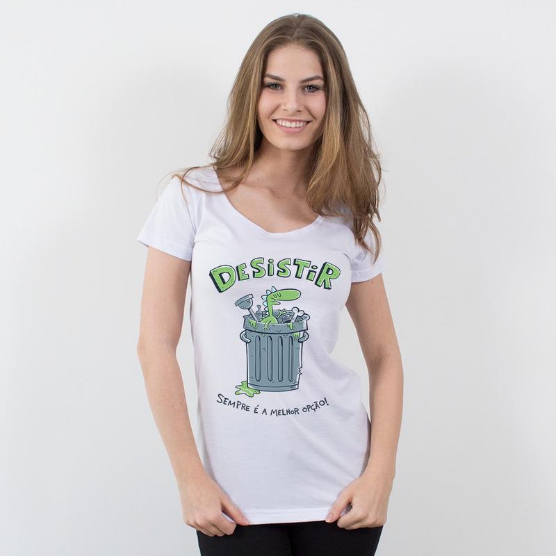 CAMISETA BRANCA - DESISTA
