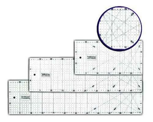 Regua Para Patchwork E Srapbook 60x15cm + 15x15cm Original