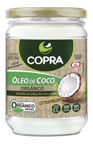Oleo De Coco Organico Extra Virgem 500ml Copra   Original Original
