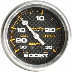 4803 Manometro Autometer Boost Turbo Carbon Fiber Original