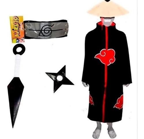 Cosplay Manto Akatsuki Itachi Kunai Naruto Shuriken A16 Original