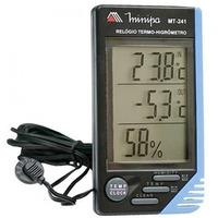 Relógio Termo-Higrômetro Int/Ext. Minipa