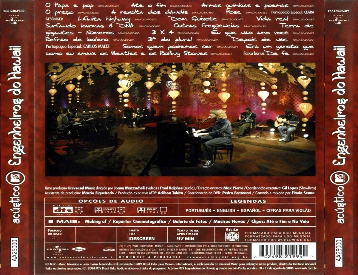 PARA HAWAII BAIXAR CD ENGENHEIROS ACUSTICO DO MTV