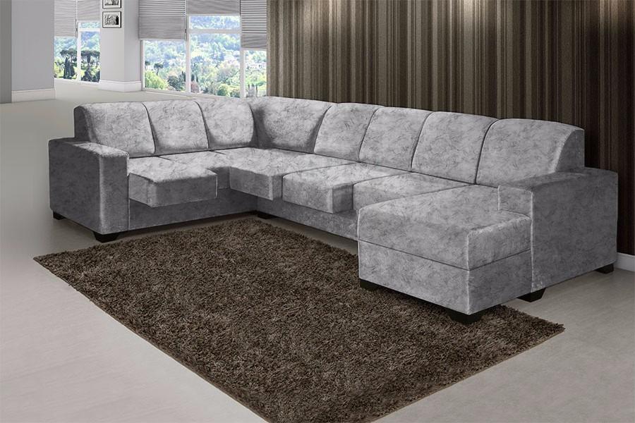 Sofa 3 lugares chaise retratil refil sofa for Sofa 03 lugares com chaise